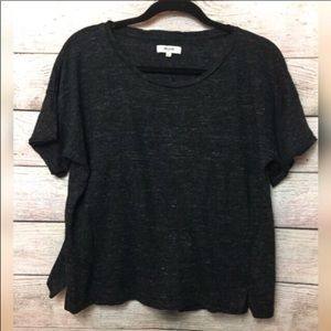 Madewell Black Linen Top
